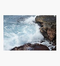 Waves, Apua Point,  Hawaii Volcanoes National Park Photographic Print
