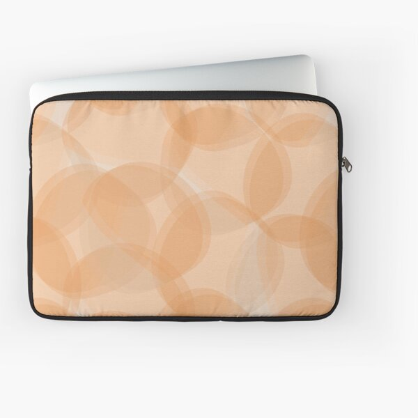 Abstract Bubbles in orange colours Laptop Sleeve