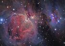 Messier#42 & 43 The Orion and Running Man Nebulas by Chuck Manges