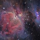 Messier#42 & 43 The Orion and Running Man Nebulas by astrochuck