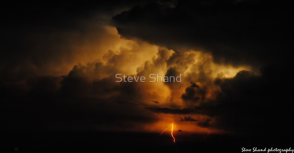 lightning out to sea by Steve Shand