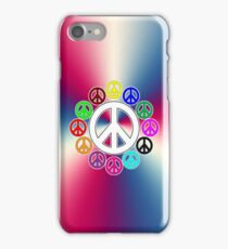 retro surrounded by peace phone iPhone Case/Skin