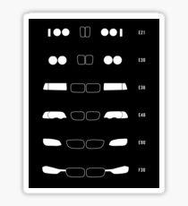 3 History, 1982-Present day (E30, E36, E46, E90, F30) Sticker Sticker