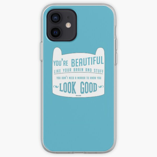 Finn The Human Case Quote iPhone Soft Case