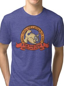 Rubber chicken with a pulley in the middle Tri-blend T-Shirt