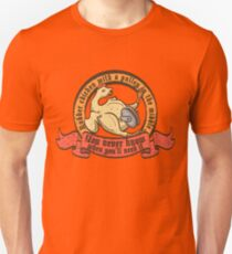 Rubber chicken with a pulley in the middle Unisex T-Shirt