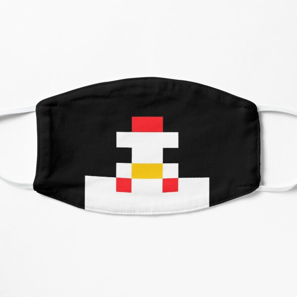 Pixel Chicken looking at you :O Flat Mask
