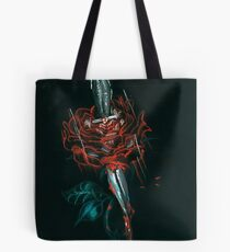 Rose and dagger larry Tote Bag