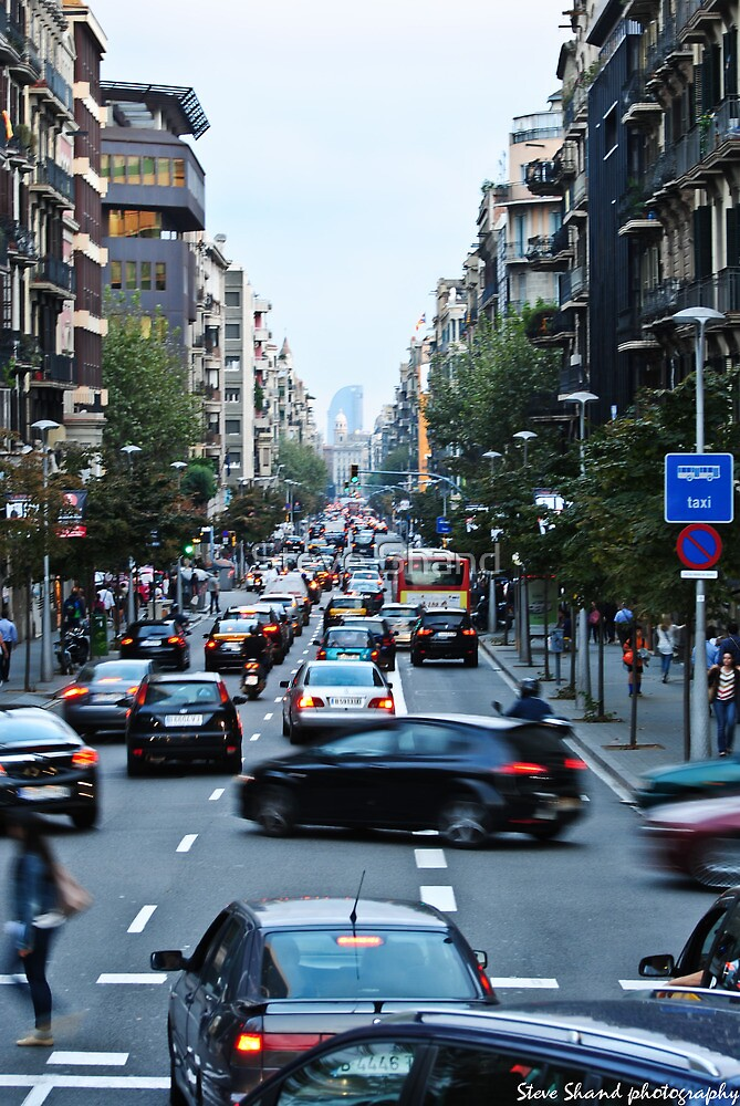 restless Barcelona by Steve Shand