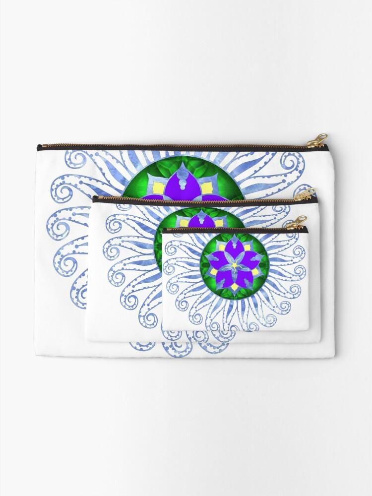 Alternate view of Mandala Zipper Pouch