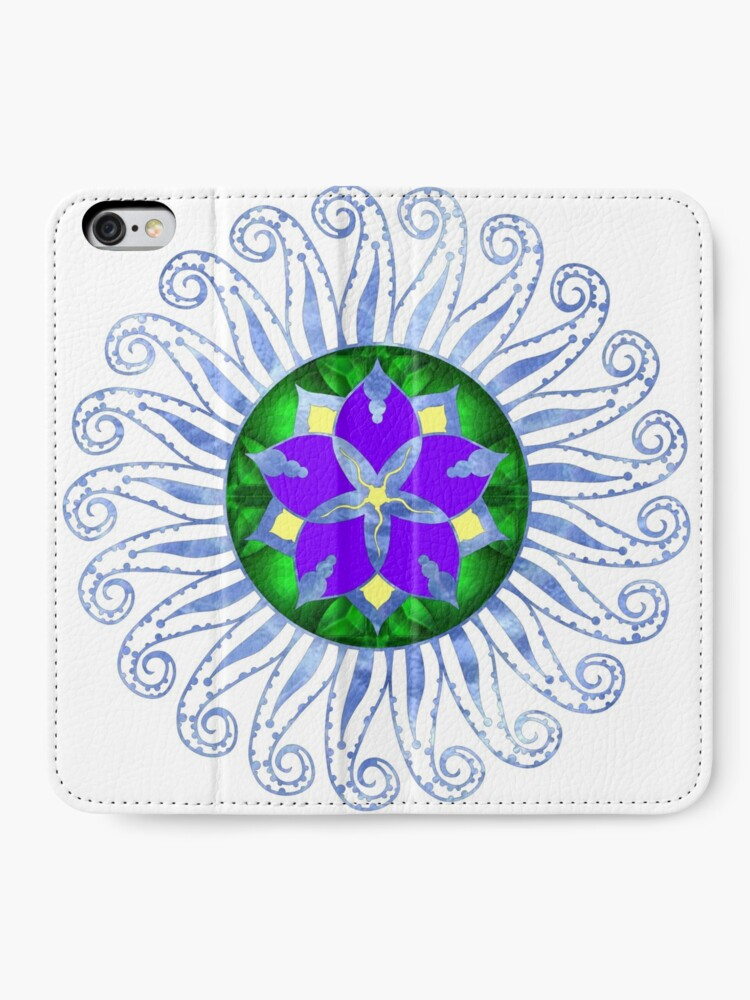 Alternate view of Mandala iPhone Wallet