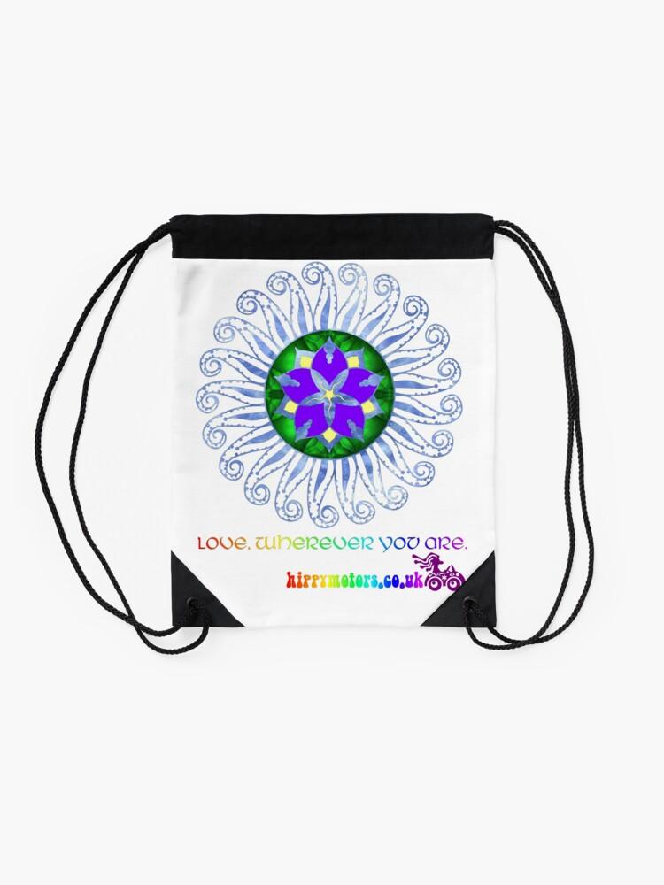 Alternate view of Mandala Drawstring Bag