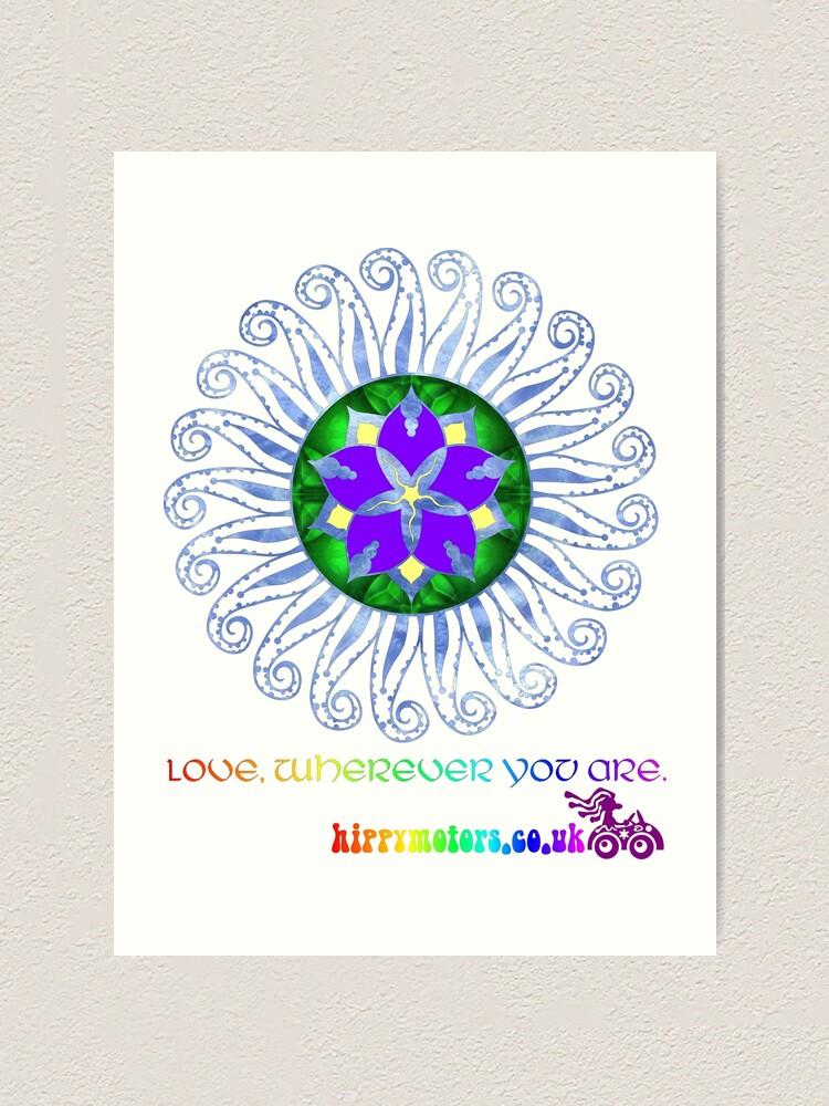 Alternate view of Mandala Art Print