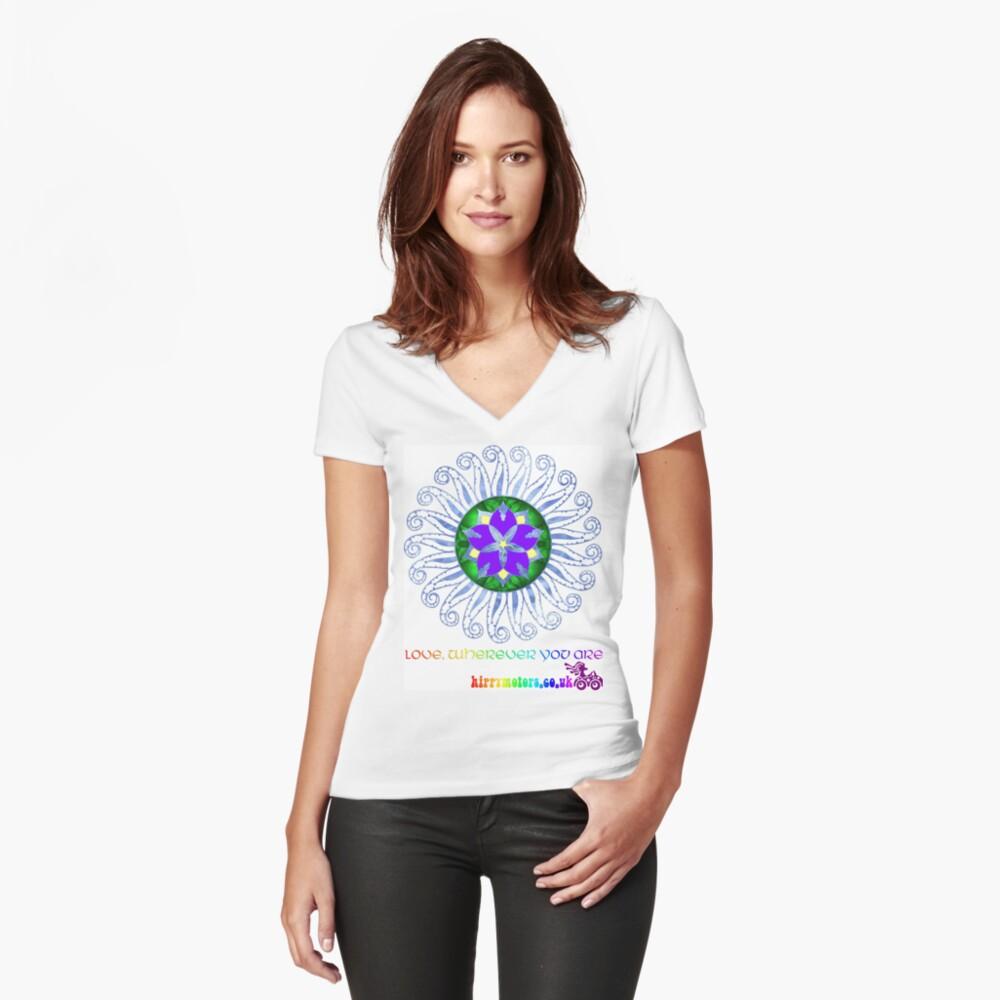 Mandala Fitted V-Neck T-Shirt
