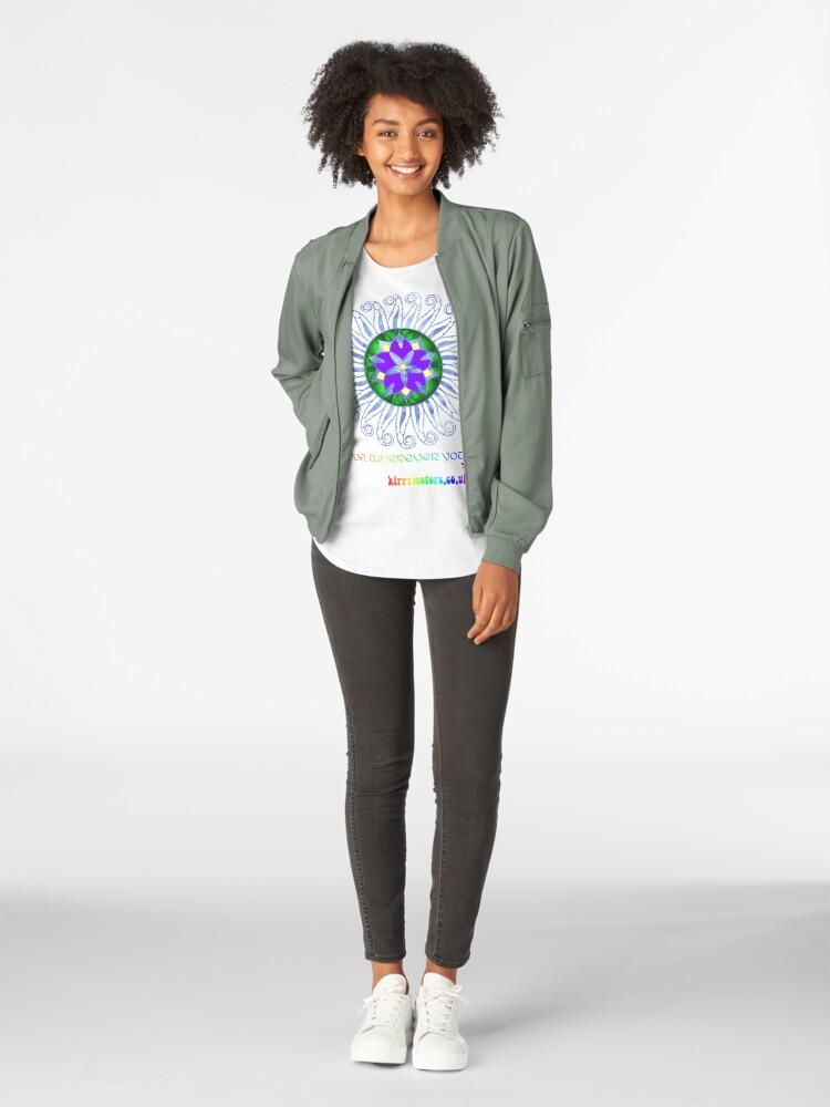 Alternate view of Mandala Premium Scoop T-Shirt