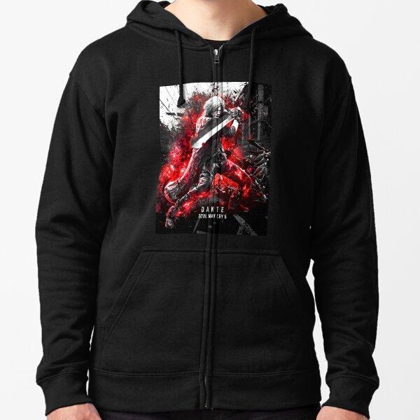 Devil May Cry 5 Dante Sudadera con capucha y cremallera