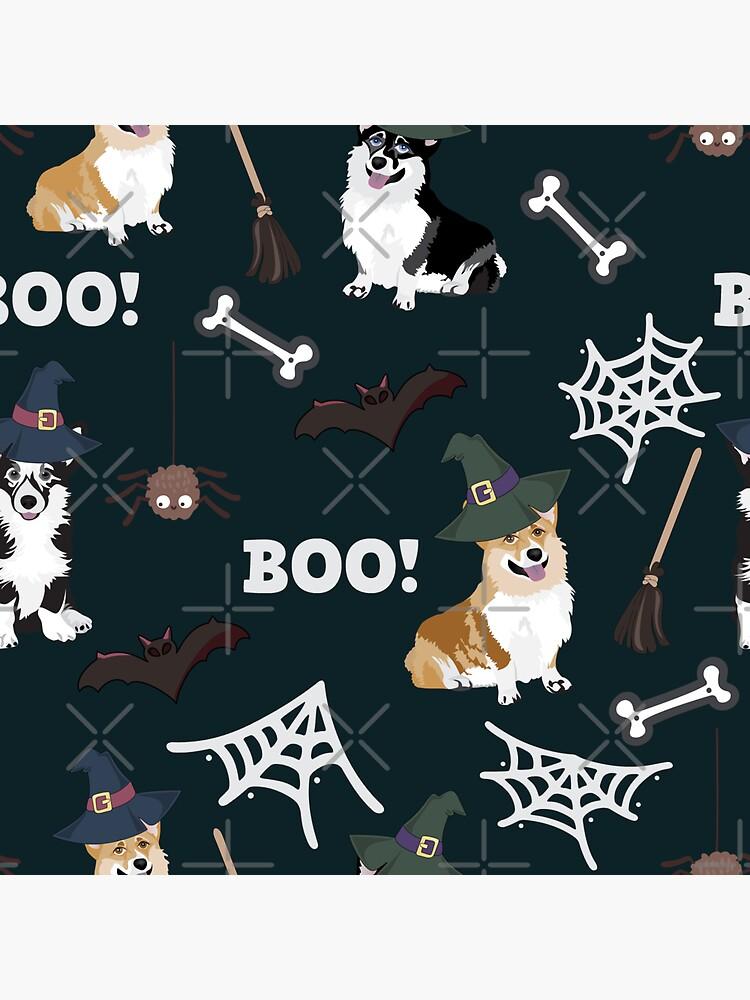 Corgis Celebrate Halloween - BOOOOO by Corgiworld