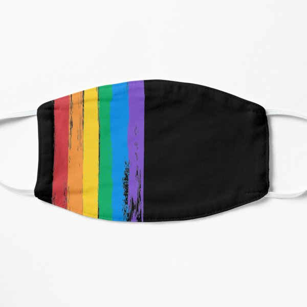 Pride Flag LGBT+ pattern Flat Mask