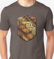 Custom Dredd Badge Shirt - (Van Beek)  T-Shirt