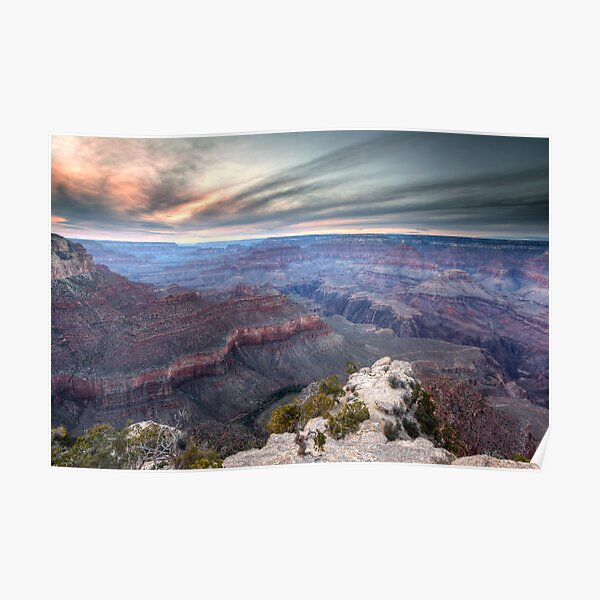 The Canyon's Last Light - Arizona, USA Poster