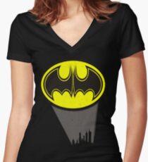Official Mattman Logo Women's Fitted V-Neck T-Shirt