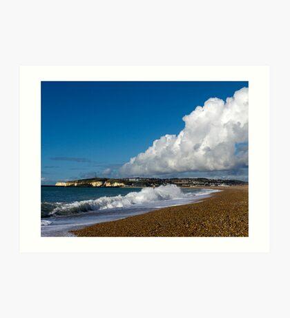 Cloud & Surf at Seaford Bay Art Print