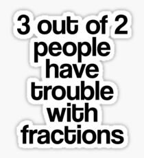 Fractions Sticker