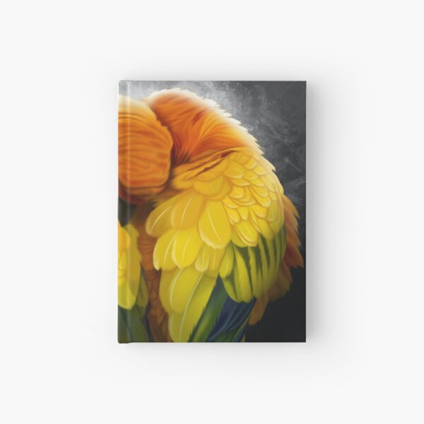 Colorful Birds Sun Parrots Hardcover Journal