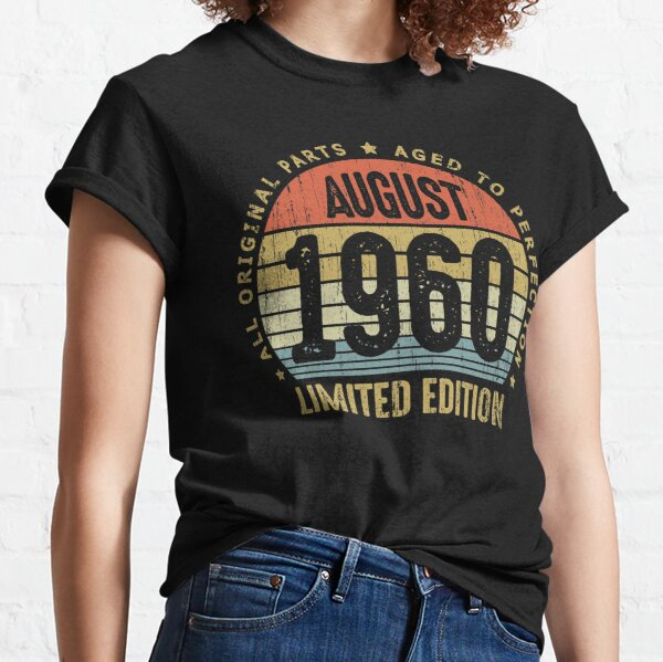 Birthday Gift 60 Years Old 1960 Classic Edition Women Football Jersey T-Shirt