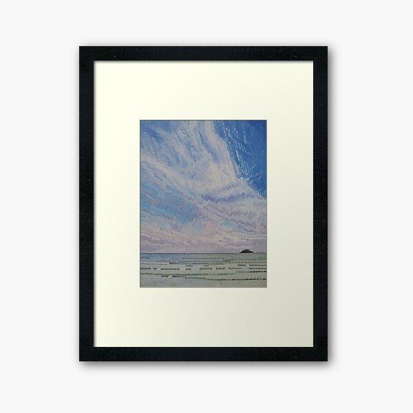 Wispy Clouds Over Ballycotton Island Framed Art Print