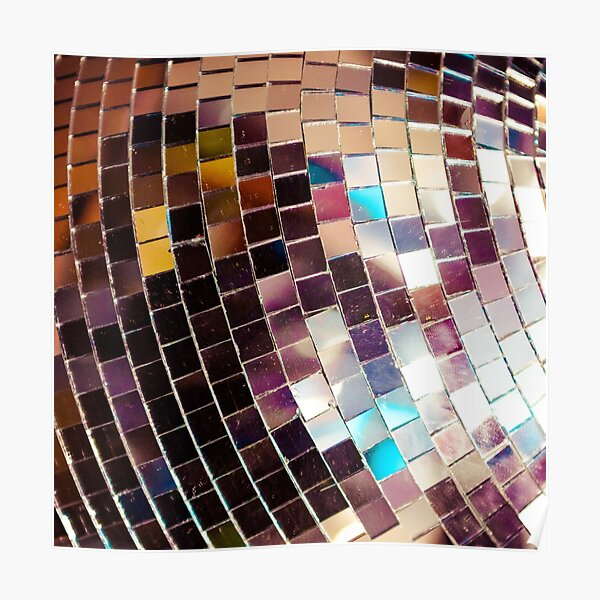 Funky Disco Ball Poster