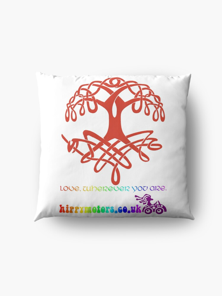 Alternate view of Celtic Tree of Life Floor Pillow