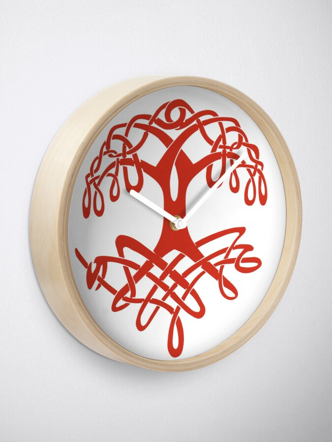 Alternate view of Celtic Tree of Life Clock