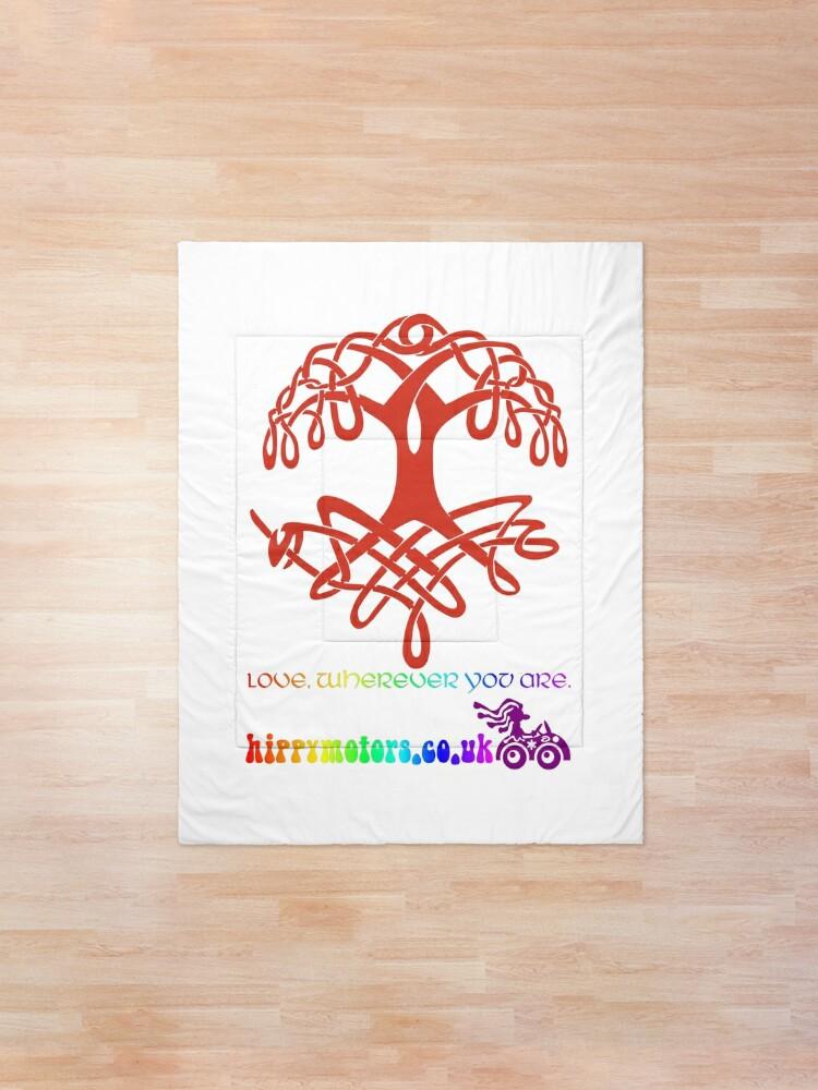 Alternate view of Celtic Tree of Life Comforter