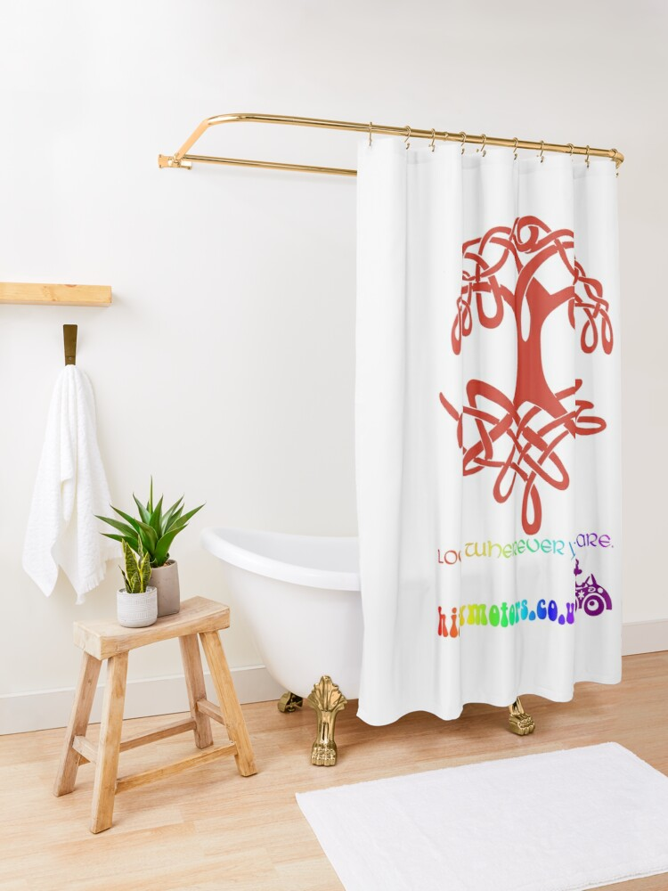 Alternate view of Celtic Tree of Life Shower Curtain