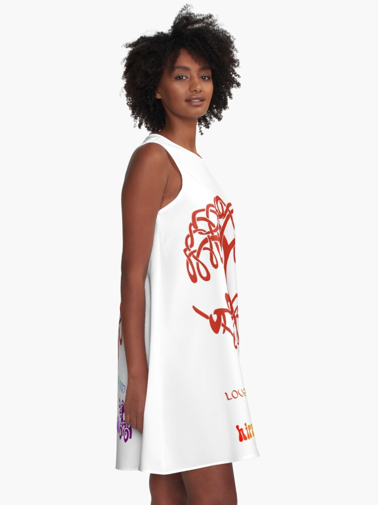 Alternate view of Celtic Tree of Life A-Line Dress
