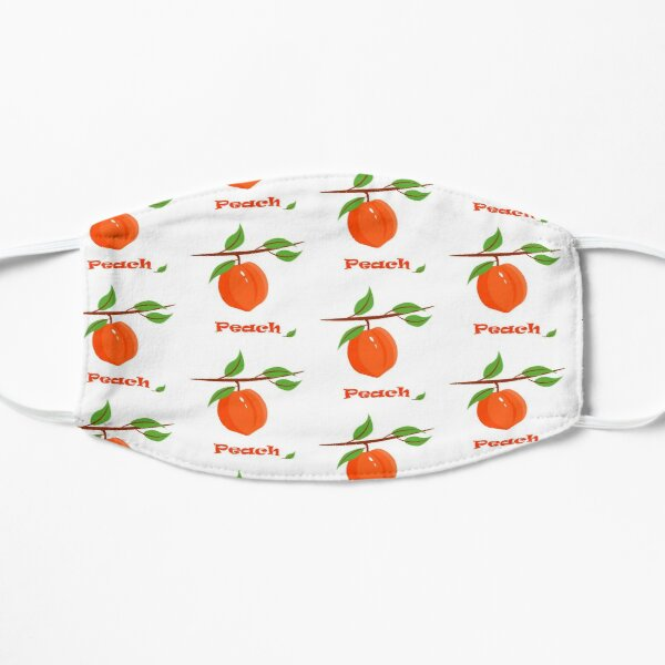 peach pattern on a branch with leaves on a white background fruit illustration mask by irinka redbubble redbubble