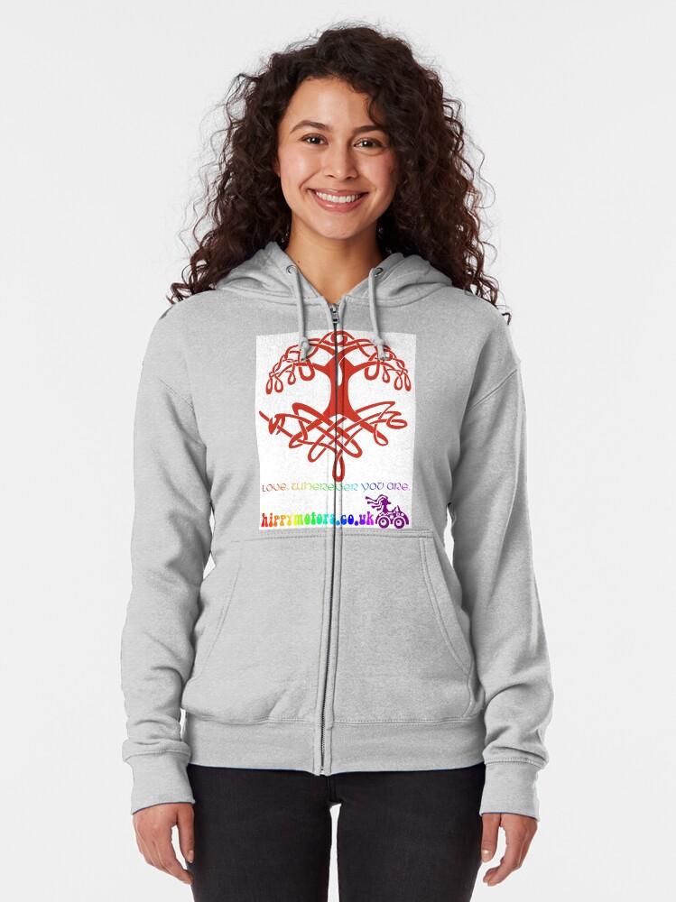 Alternate view of Celtic Tree of Life Zipped Hoodie