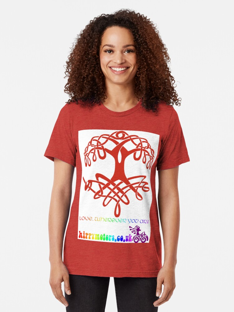 Alternate view of Celtic Tree of Life Tri-blend T-Shirt
