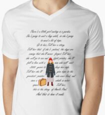 There's a little girl waiting in a garden Men's V-Neck T-Shirt