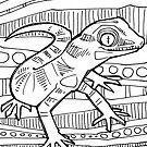 Bynoe's gecko, coloring book page by Gwenn Seemel