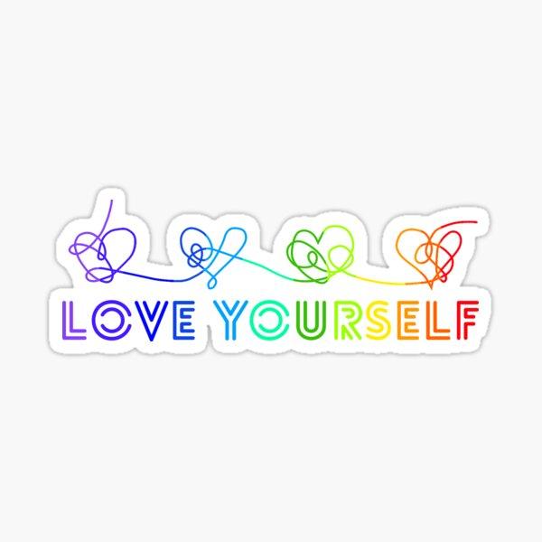 BTS Love yourself tear rainbow Pegatina