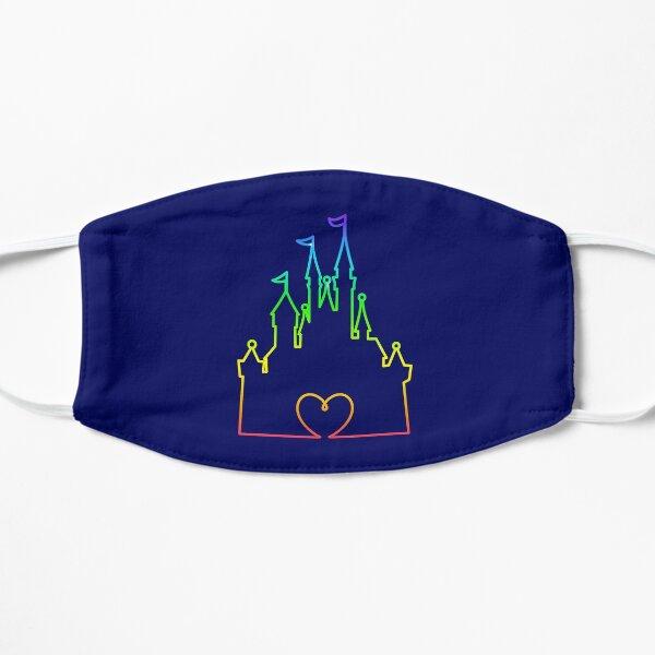 Castle Heart design in Rainbow Flat Mask