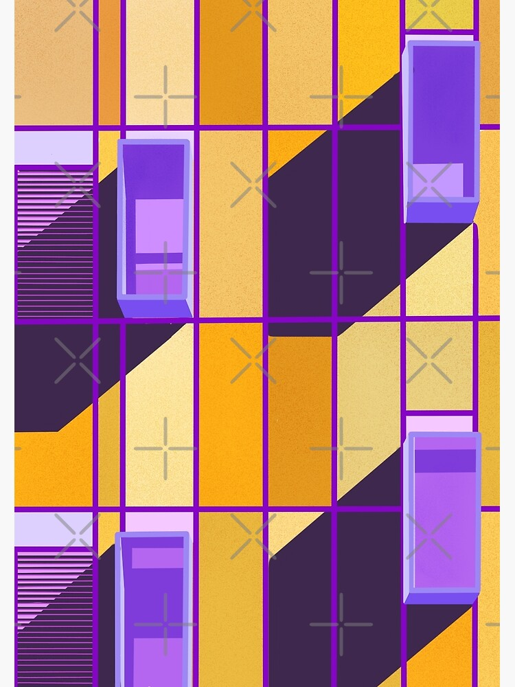 Yellow and violet contrast on a building front by didssph