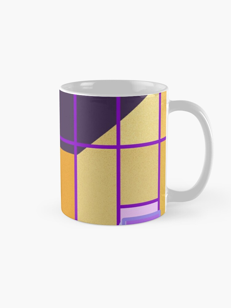Alternate view of Yellow and violet contrast on a building front Mug
