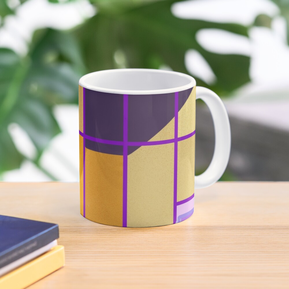 Yellow and violet contrast on a building front Mug