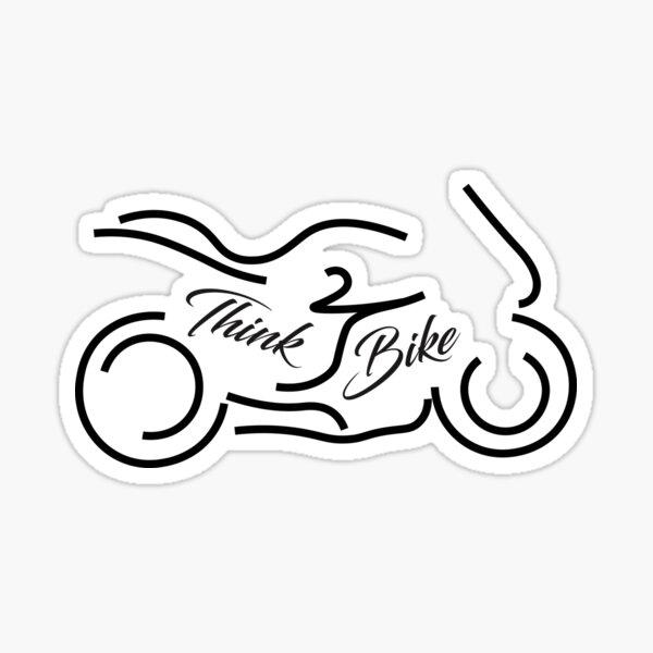 Think Bike design image and slogan Sticker