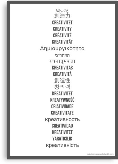 "How do you say ""creativity""? by TICW"