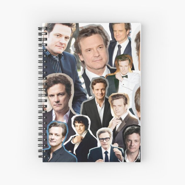 Colin Firth Spiral Notebook