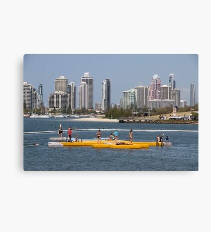 Pontoon on the Broadwater Canvas Print
